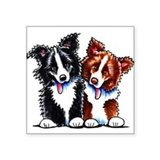 "Little League Border Collies Square Sticker 3"" x 3"