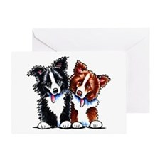 Little League Border Collies Greeting Card