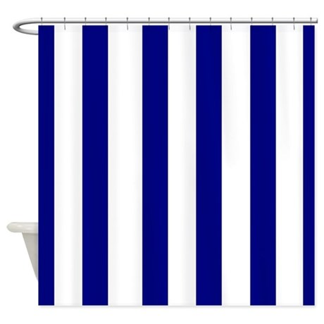 Navy Blue Stripes Shower Curtain By Laughoutlouddesigns1