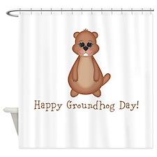 Happy Groundhog Day! Shower Curtain