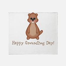 Happy Groundhog Day! Throw Blanket