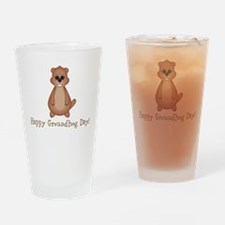 Happy Groundhog Day! Drinking Glass