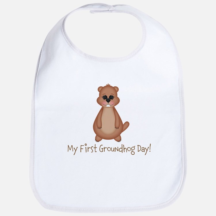 My First Groundhog Day! Bib