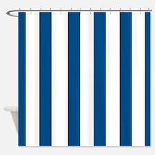 dark blue stripes 3 Shower Curtain