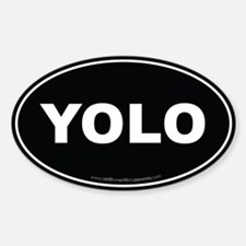 YOLO EURO Oval, You Only Live Once Decal