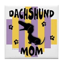 Dachshund Mom Tile Coaster