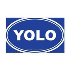 YOLO EURO Oval, You Only Live Once Rectangle Car M
