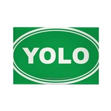 YOLO EURO Oval, You Only Live Once Rectangle Magne