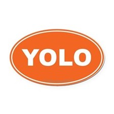 YOLO EURO Oval, You Only Live Once Oval Car Magnet