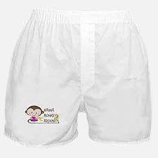 Cute Monkey - Wanna Monkey Around? Boxer Shorts