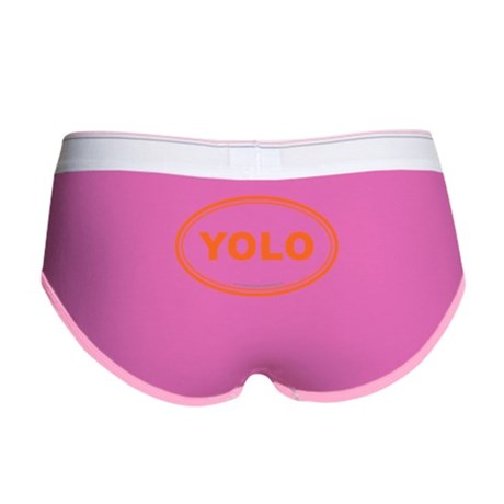 YOLO EURO Oval, You Only Live Once Women's Boy Bri