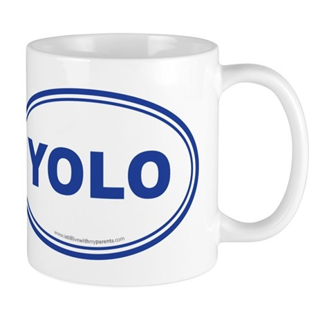 YOLO EURO Oval, You Only Live Once Mug