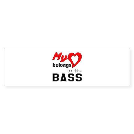 My Heart Belongs To The Bass Sticker (Bumper)