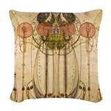 Art deco Throw Pillows
