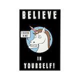 Funny unicorn Magnets
