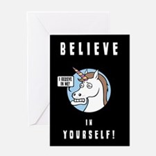 I Believe In Me Greeting Card