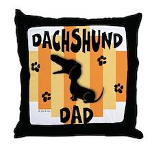 Dachshund Dad Throw Pillow