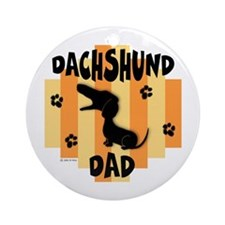 Dachshund Dad Ornament (Round)