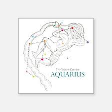 """AQUARIUS Square Sticker 3"""" x 3"""""""