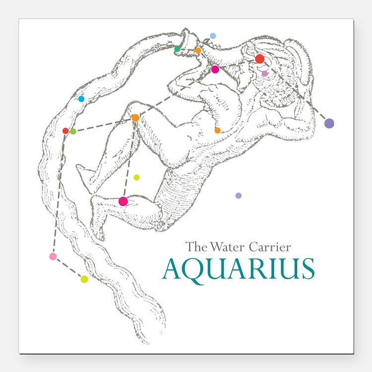 """AQUARIUS Square Car Magnet 3"""" x 3"""""""