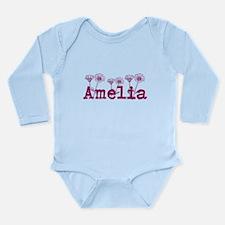 Purple Amelia Name Body Suit