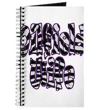 Oilfield Wife Zebra Purple Journal