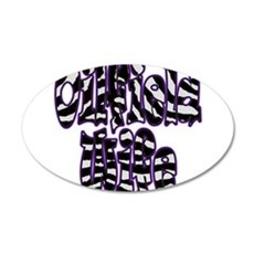 Oilfield Wife Zebra Purple Wall Decal