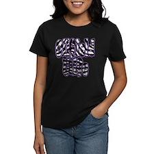 Oilfield Wife Zebra Purple T-Shirt