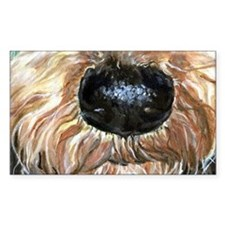Airedale Nose Nosey Decal