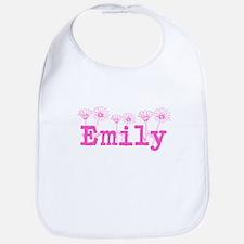 Pink Emily Name Bib