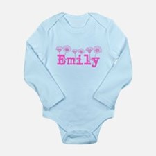 Pink Emily Name Body Suit