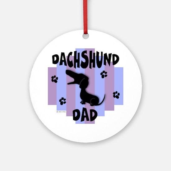 Dachshund Dad Ornament (Round)