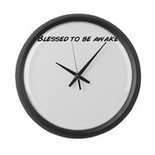 Unique Blessed be Large Wall Clock