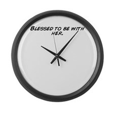 Cute Blessed be Large Wall Clock
