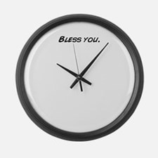 Cute Bless you Large Wall Clock