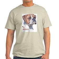 Boxer w/Natural Ears (2) Ash Grey T-Shirt