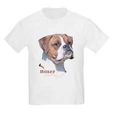 Boxer w/Natural Ears (2) Kids T-Shirt