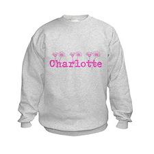 Pink Charlotte Name Sweatshirt