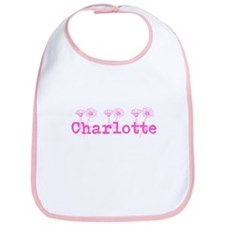 Pink Charlotte Name Bib
