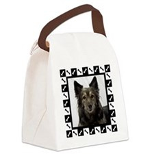 Maia--Dog Portrait with Black and Canvas Lunch Bag