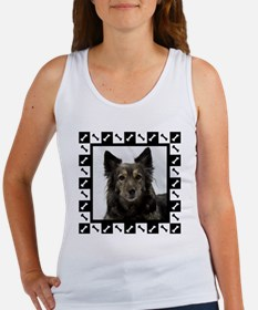 Maia--Dog Portrait with Black and Women's Tank Top