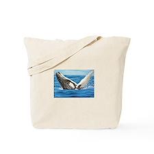 Humpback Whale Breaching Tote Bag