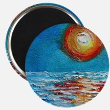 Abstract Sunset Impasto Magnet