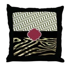 Beautiful Zebra/Chevron Print Throw Pillow