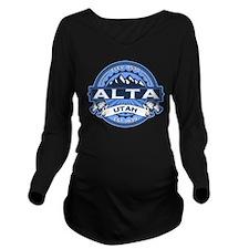 Alta Blue Long Sleeve Maternity T-Shirt