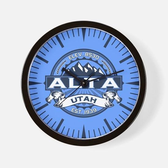 Alta Blue Wall Clock