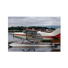 Float plane, Lake Hood, Anchorage Rectangle Magnet
