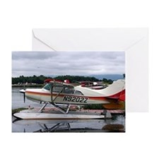Float plane, Lake Hood, Anchorage, A Greeting Card