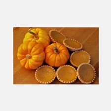Mini pumpkin pies Rectangle Magnet