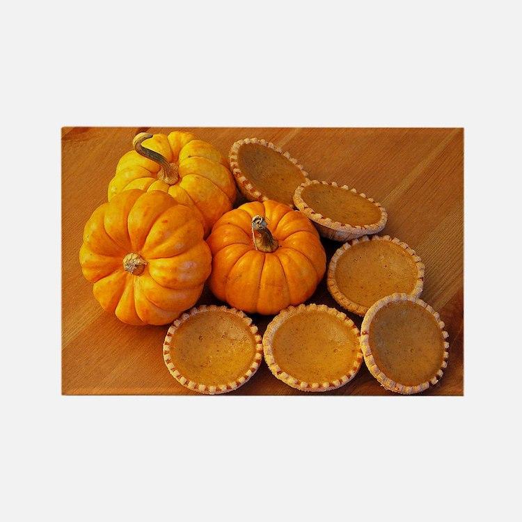 Mini pumpkin pies Rectangle Magnet